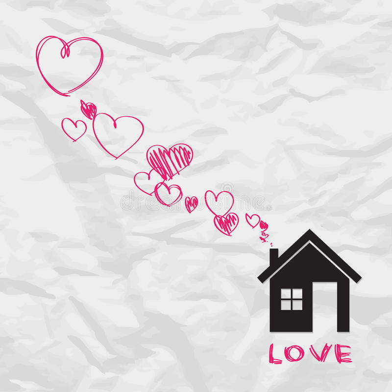 Download House and hearts. stock vector. Image of design, home - 29083347