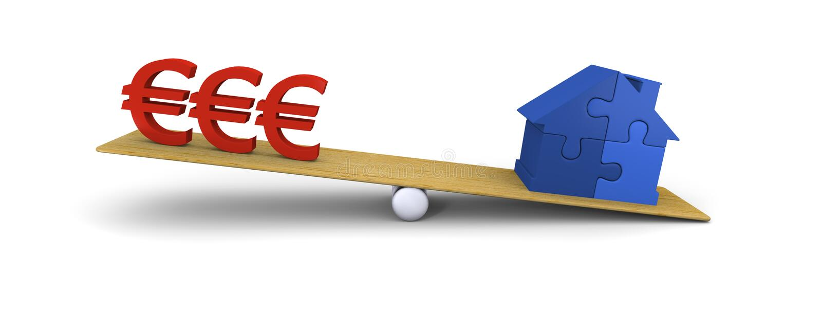 Download House heavier than euros stock illustration. Image of euro - 23534033