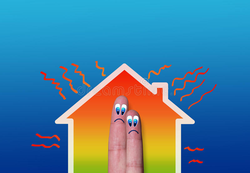 Download House With High Heat Loss Illustration Stock Illustration - Image: 30219682