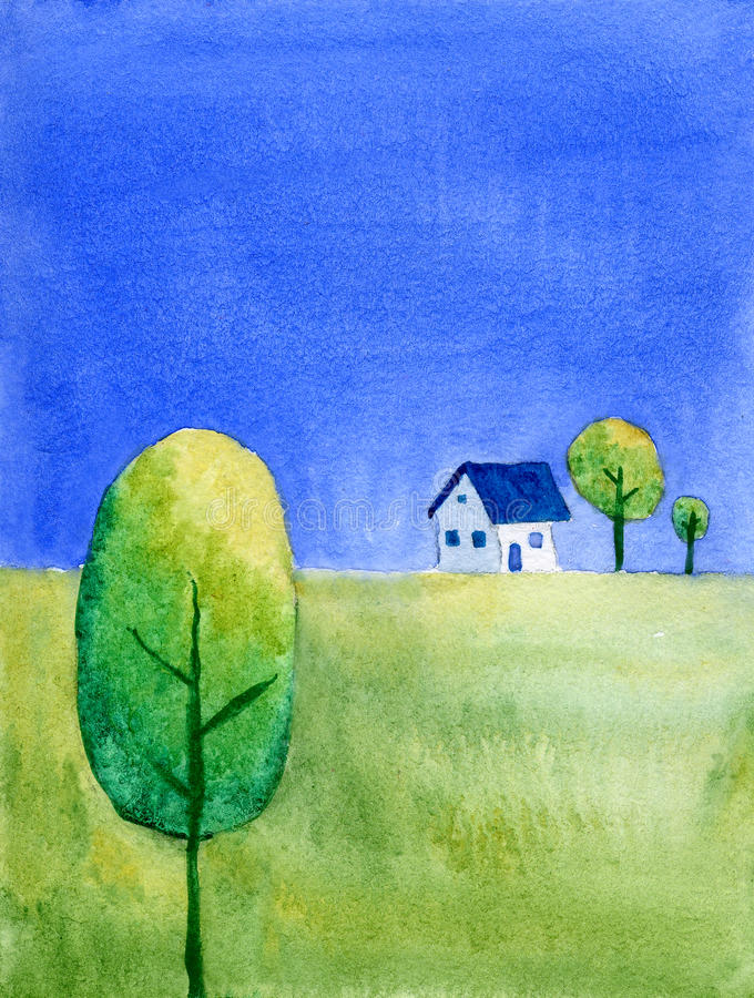 House On Hill Royalty Free Stock Photo