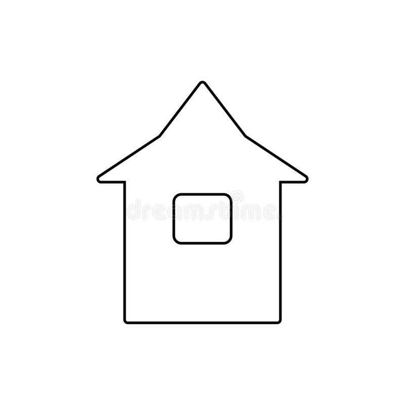 Home icon. Web site home page button royalty free illustration