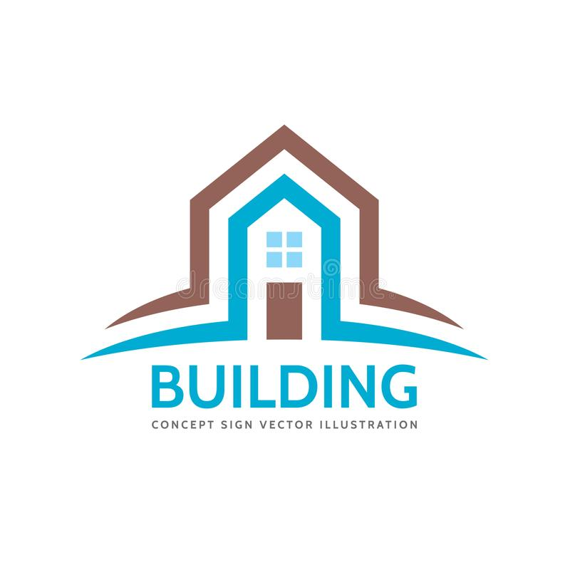 House home building - vector logo concept illustration for presentation, booklet, website and other creative projects. Real estate vector illustration