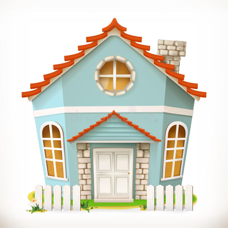 House, home. vector icon. House, home. 3d vector icon stock illustration