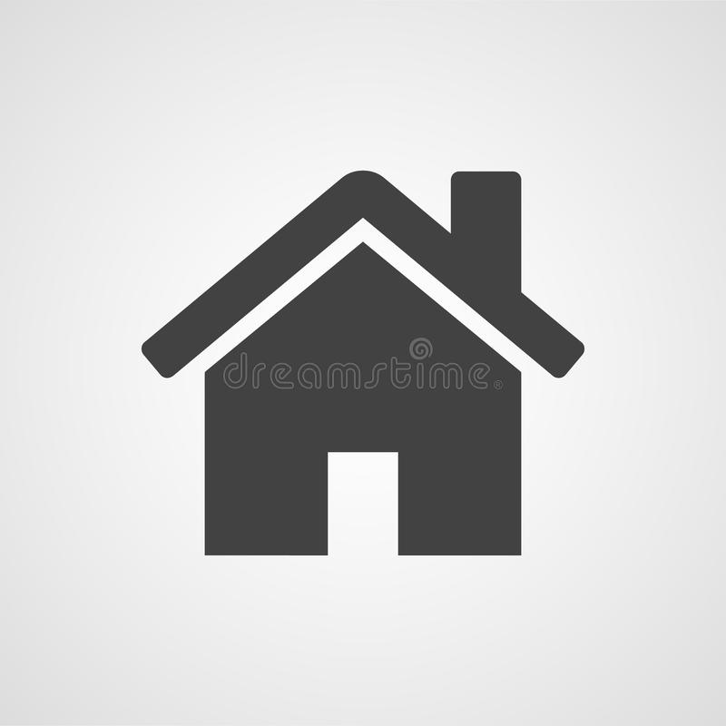 House or home vector icon. On white background vector illustration