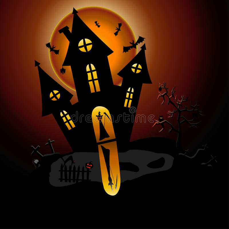 Download House of horror and ghosts stock vector. Image of terrified - 21069355
