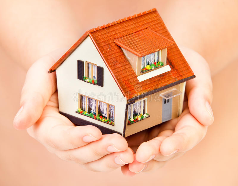 Download House in human hands stock photo. Image of human, savings - 15588106