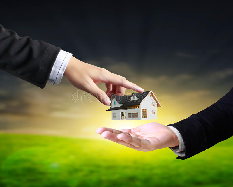 Download House in human hands stock photo. Image of invest, concept - 24452808