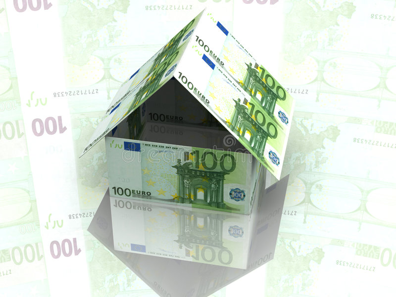 Download House From Hundred Dollars Royalty Free Stock Photo - Image: 2608605