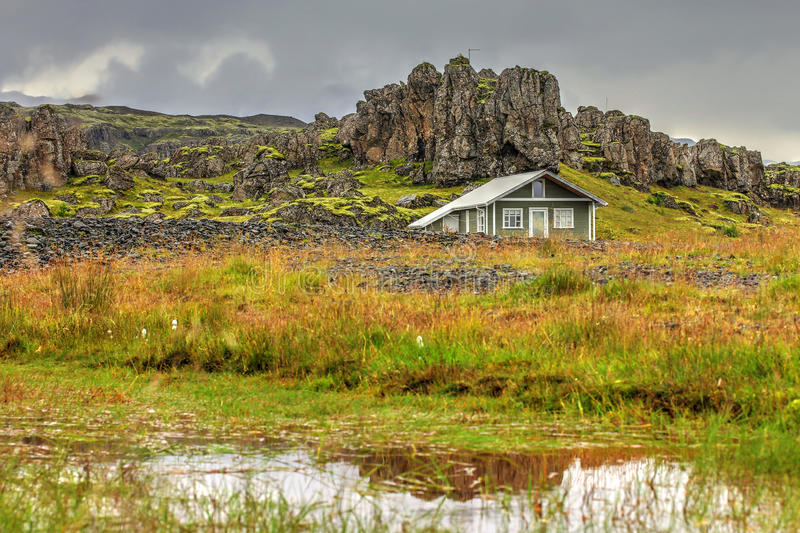 House in Iceland stock images
