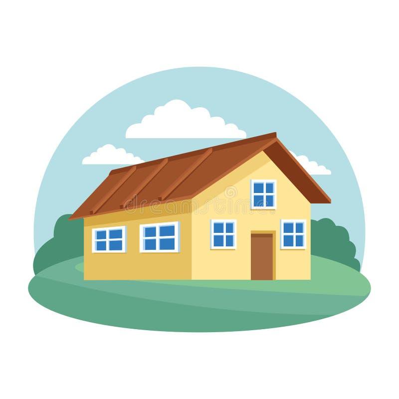 3d Design Using Home Designer Chief Architect Multi Level: Cartoon House Urban Expensive Stock Vector