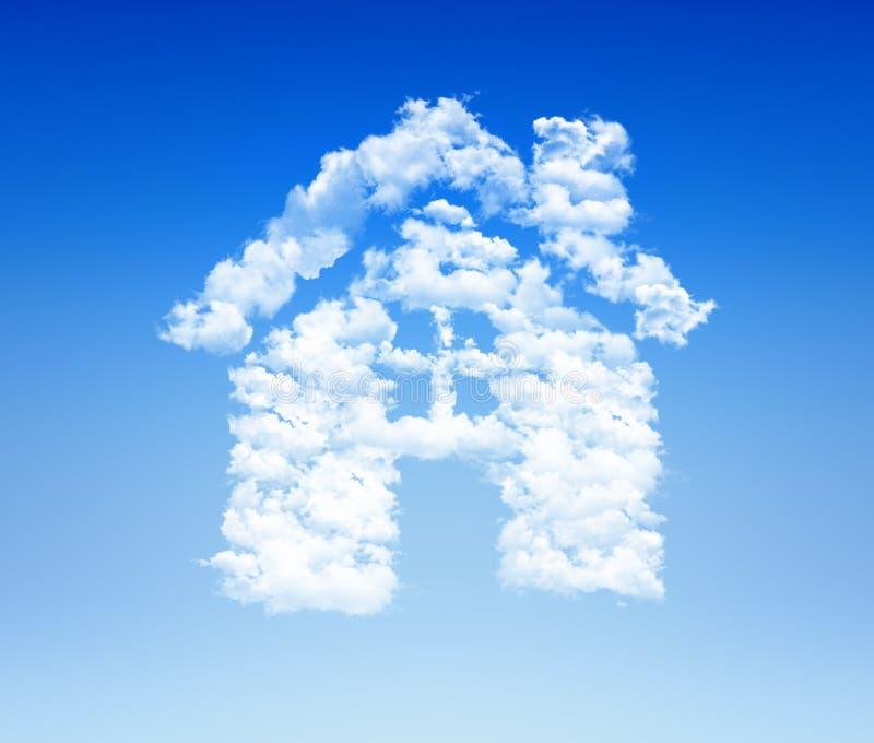 House icon cloud sky royalty free stock photos