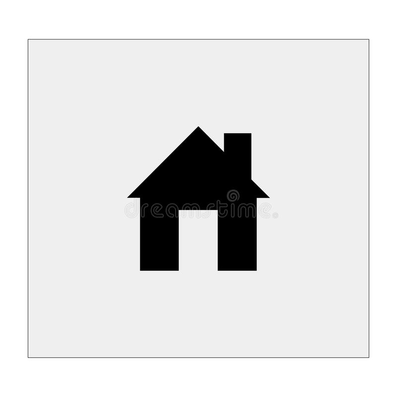 house icon gray background vector illustration stock vector rh dreamstime com house icon vector ai house icon vector png