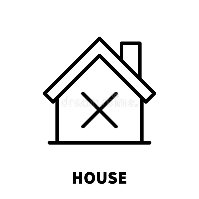 House icon or logo in modern line style. vector illustration