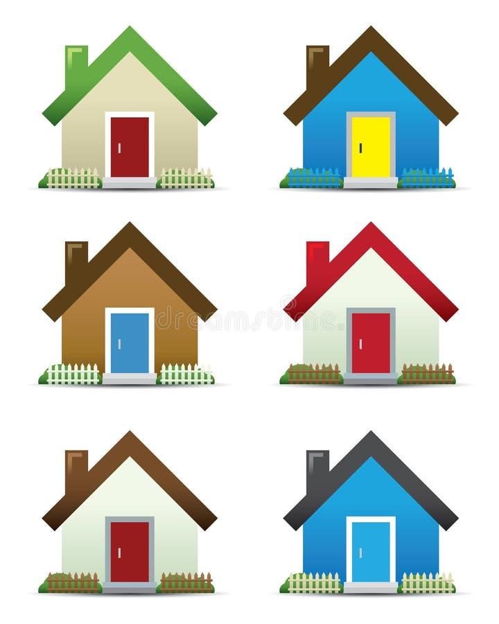 House Icon Set royalty free illustration