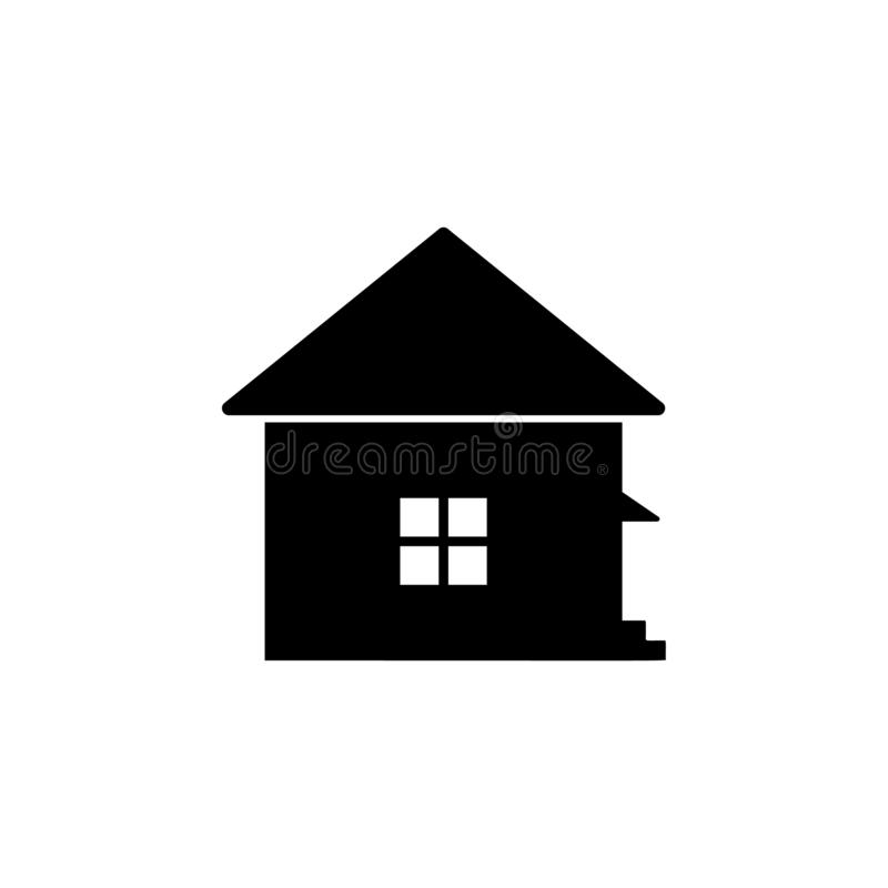 House icon. Simple glyph vector of universal set icons for UI and UX, website or mobile application. On white background royalty free illustration