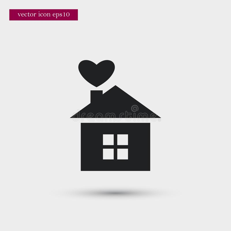 House icon. Simple romance element illustration. Valentine symbol design from love collection. Can be used in web and mobile vector illustration