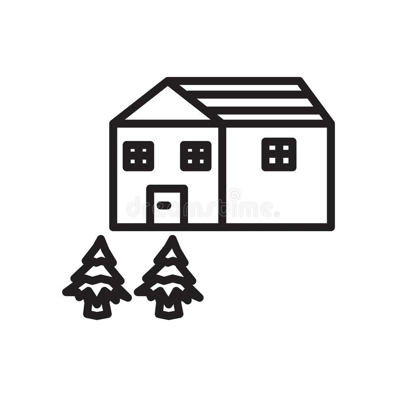 House icon vector isolated on white background, House sign , linear symbol and stroke design elements in outline style stock illustration