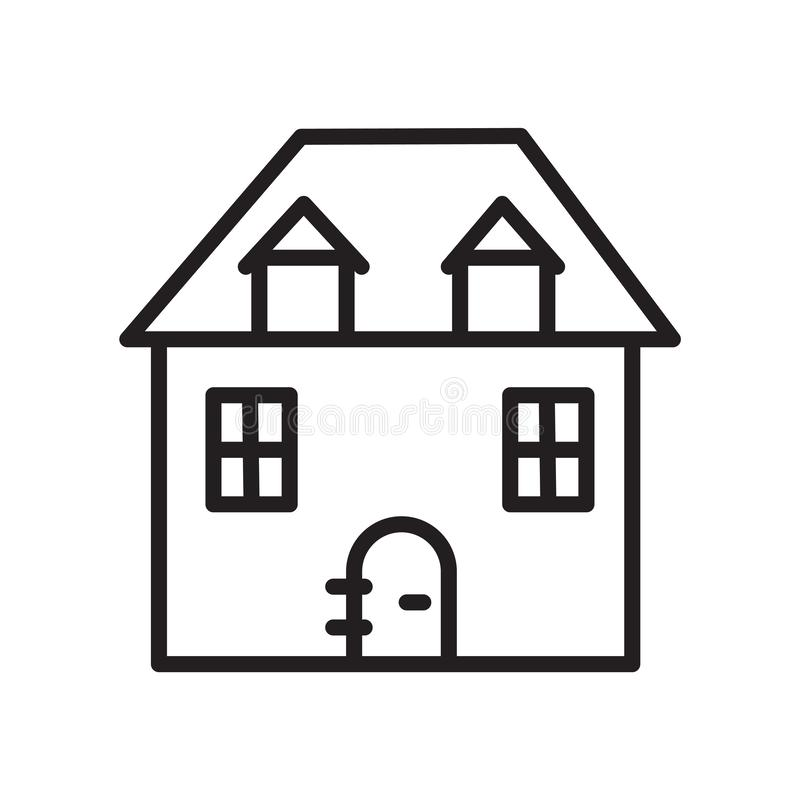 House icon vector isolated on white background, House sign , linear symbol and stroke design elements in outline style vector illustration