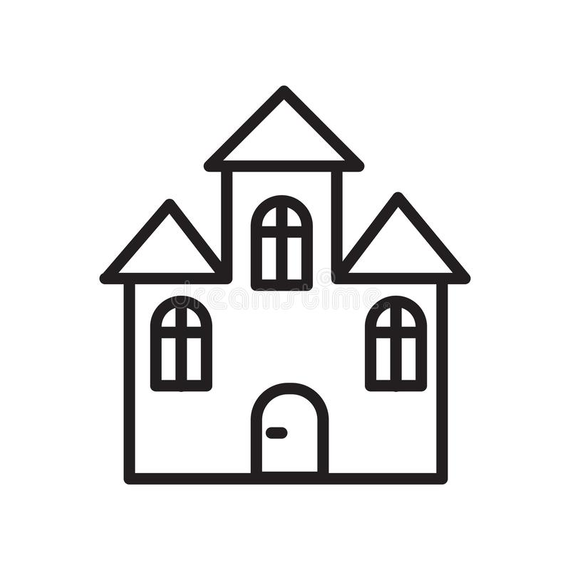 House icon vector isolated on white background, House sign , linear symbol and stroke design elements in outline style royalty free illustration