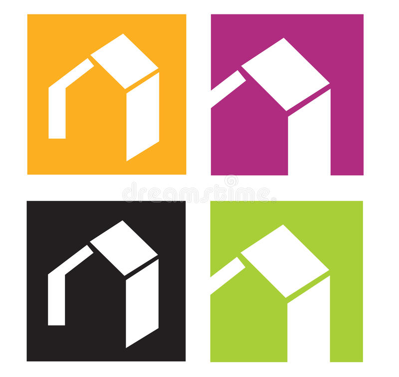 House icons royalty free illustration