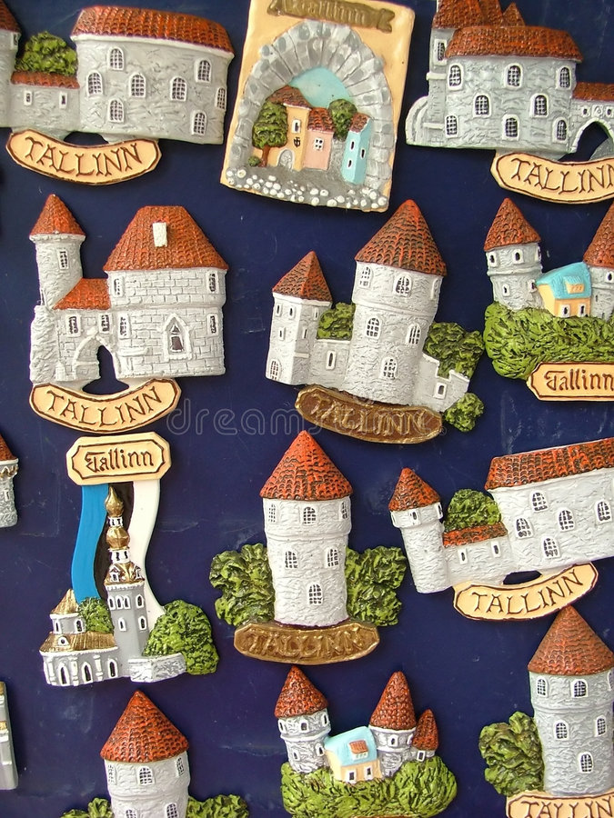 House icons. Small miniature house icons, for tourists royalty free stock photography
