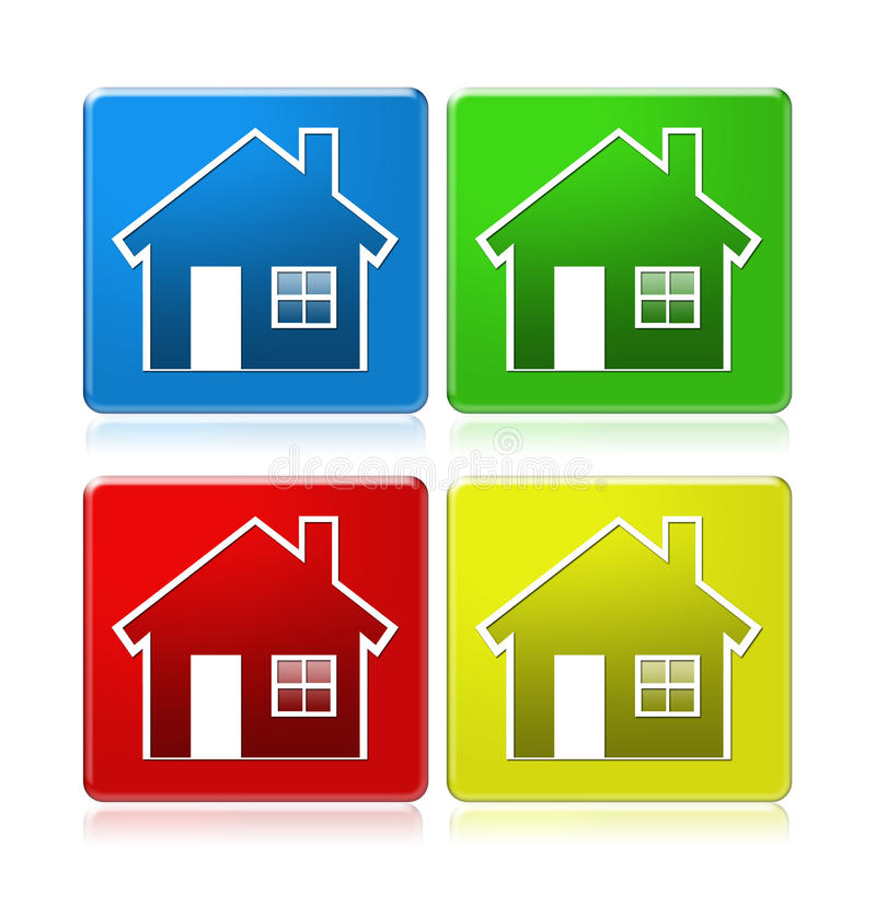 Free House Icons On Squares Royalty Free Stock Photo - 10600375