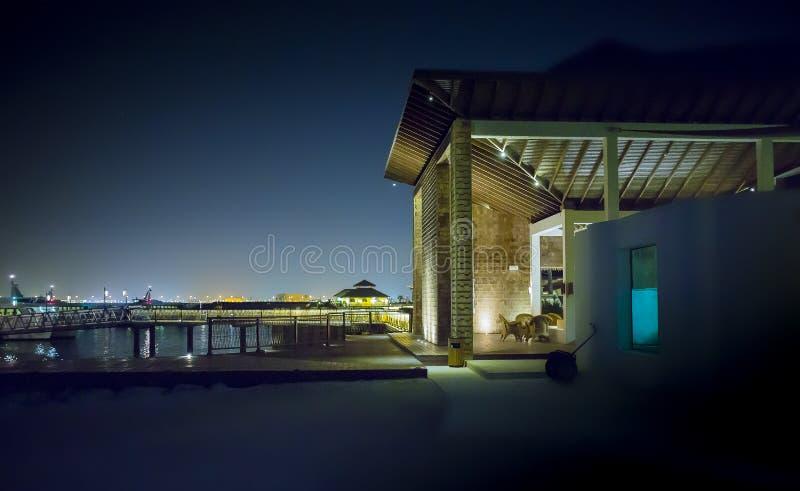 House illuminated at night royalty free stock photography