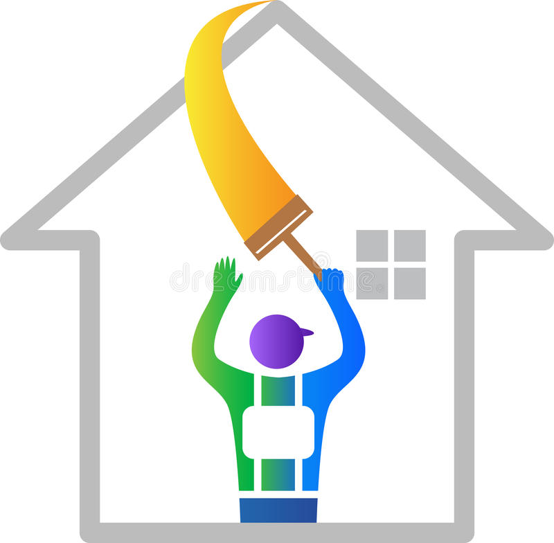 House improvement. A vector drawing represents house improvement design royalty free illustration