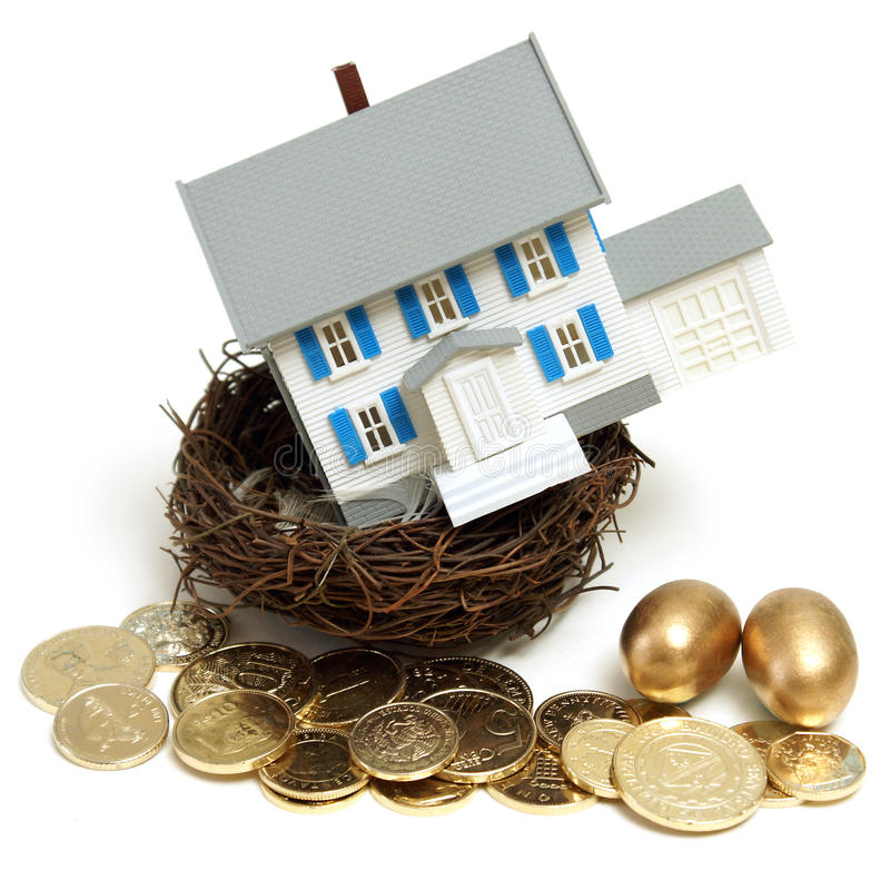 Free House In A Nest Royalty Free Stock Photos - 18142698