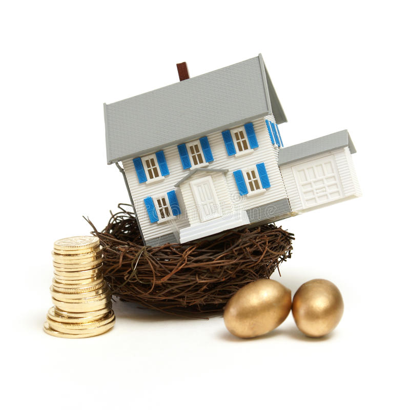 Free House In A Nest Royalty Free Stock Images - 18291789