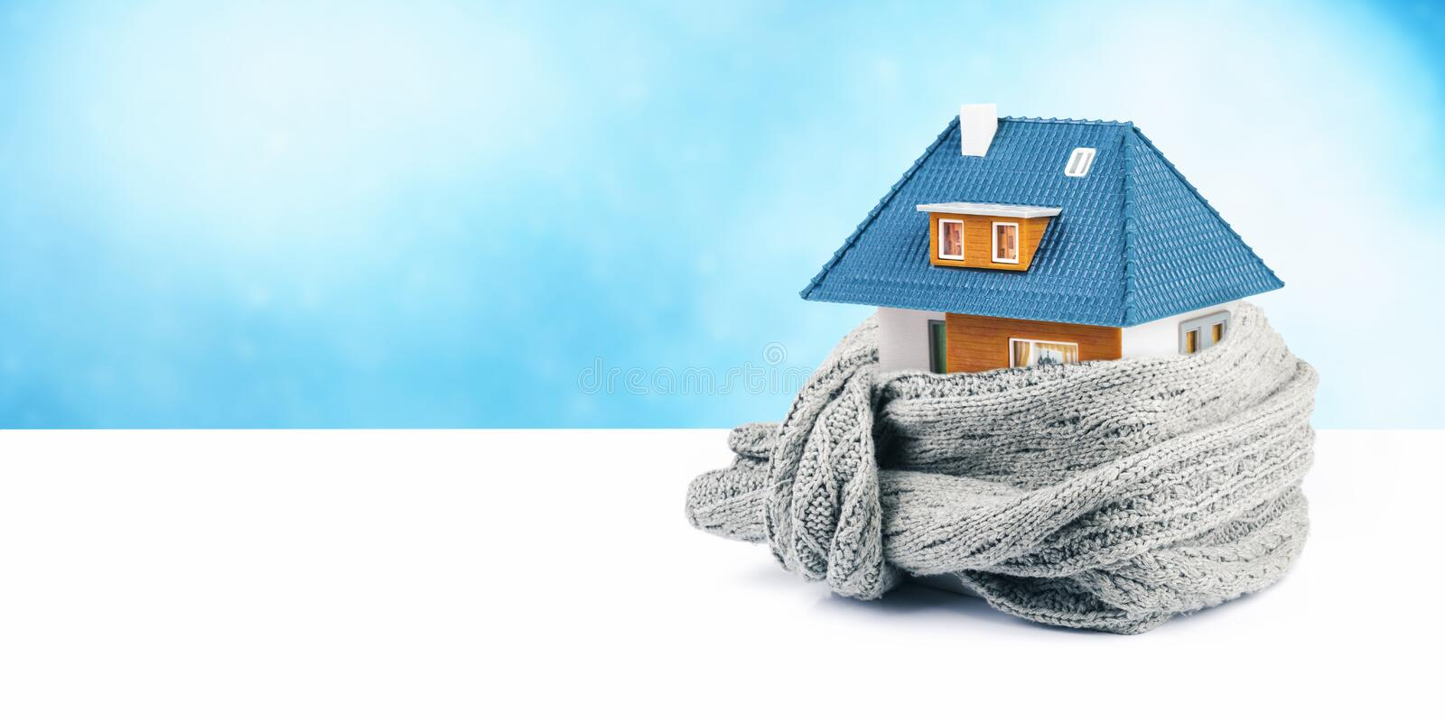 House insulation concept. copy space stock image