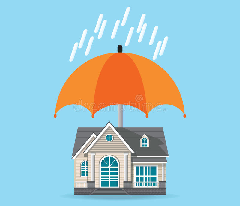 House insurance concept isolated on background. royalty free illustration