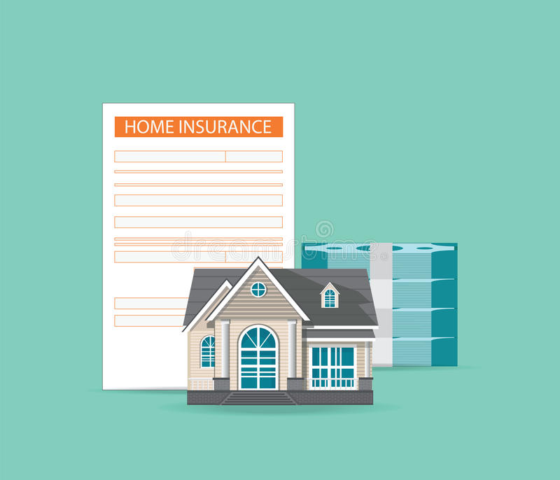 House insurance concept isolated on background. vector illustration
