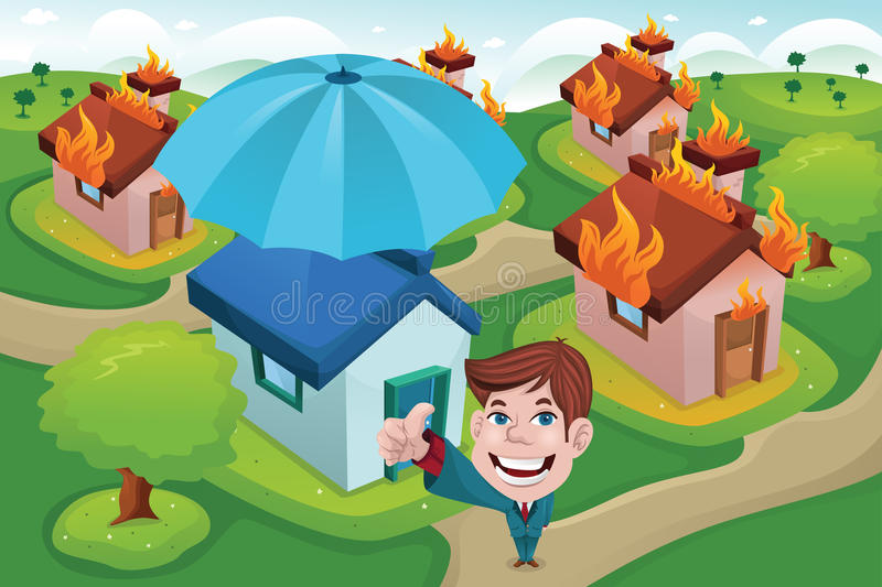 House insurance concept vector illustration