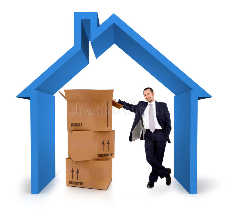 Download House insurance salesman stock photo. Image of relocate - 23159176