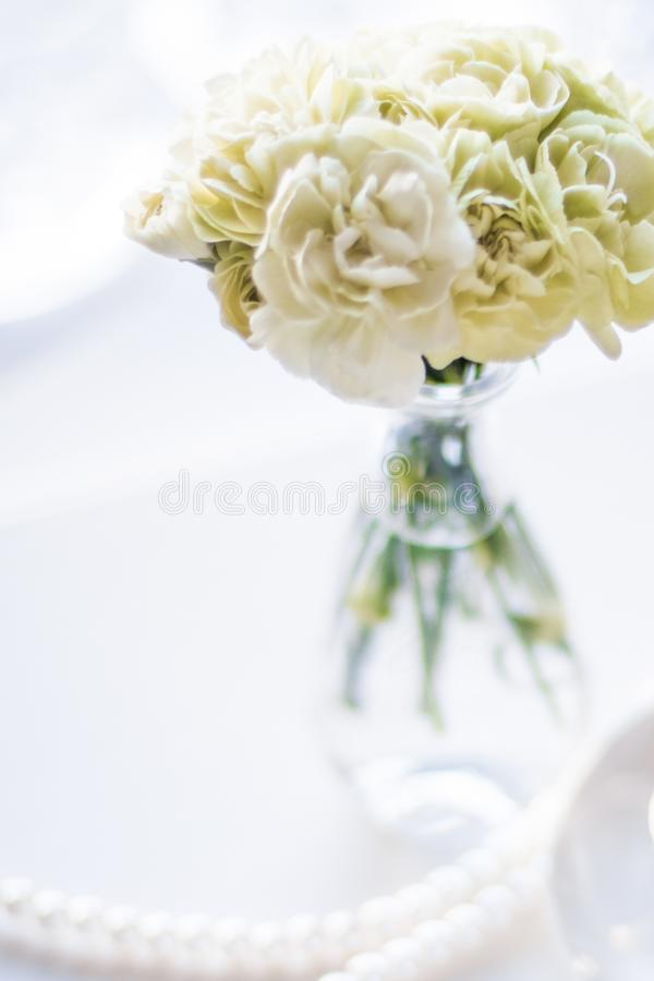 House interior decoration details - fashionable and luxurious home decor styled concept. Elegant visuals stock image