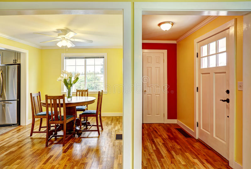 House interior entrance hallway and dining room stock for House dining hall images