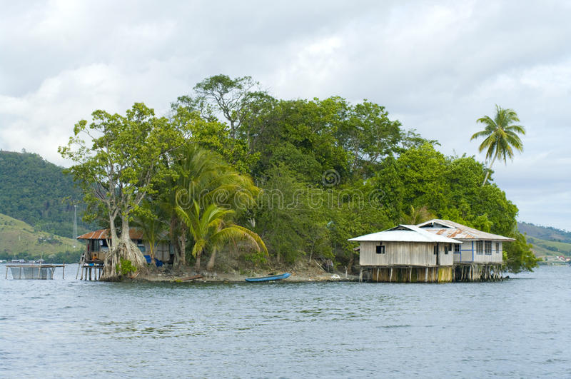 House on an island royalty free stock image