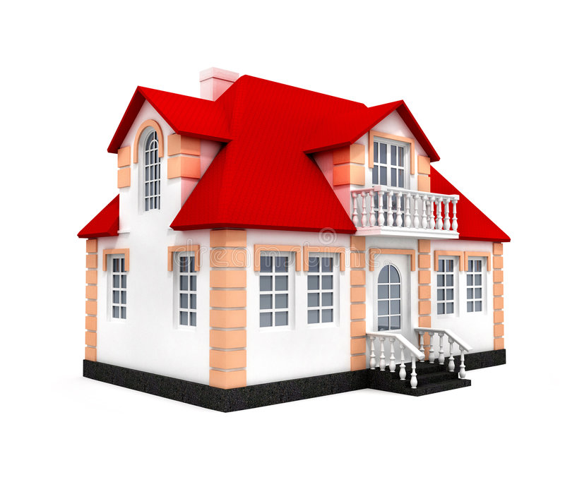 House isolated 3d model stock photography