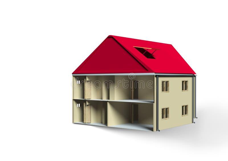 House isolated on white royalty free illustration