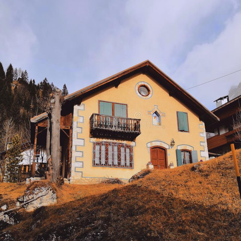 House in Italy, Alps stock image