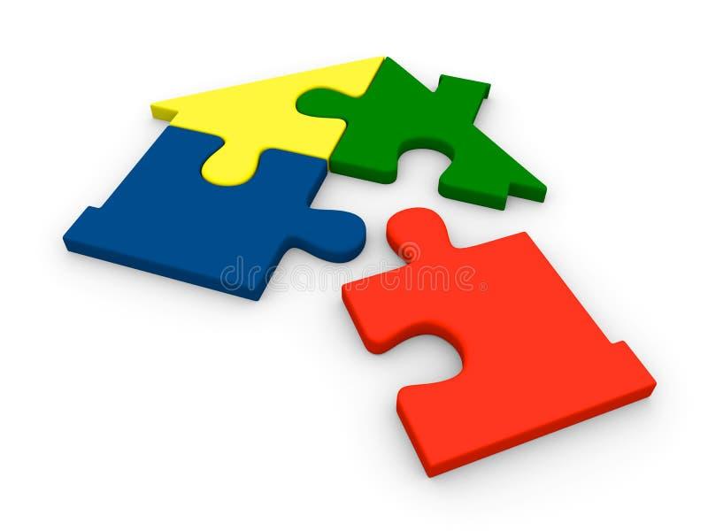 House jigsaw vector illustration