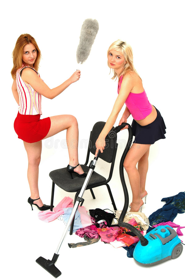 Download House-keeping fun 3 stock photo. Image of choice, girls - 354716