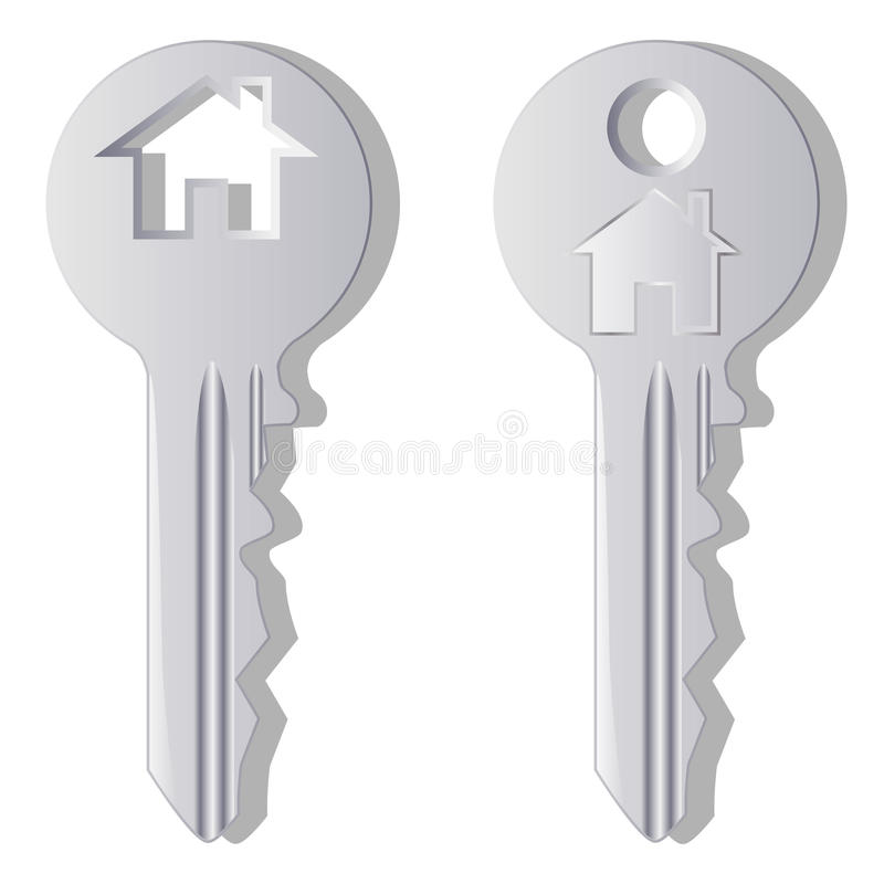 Download House key stock vector. Image of apartment, gray, agent - 15549485
