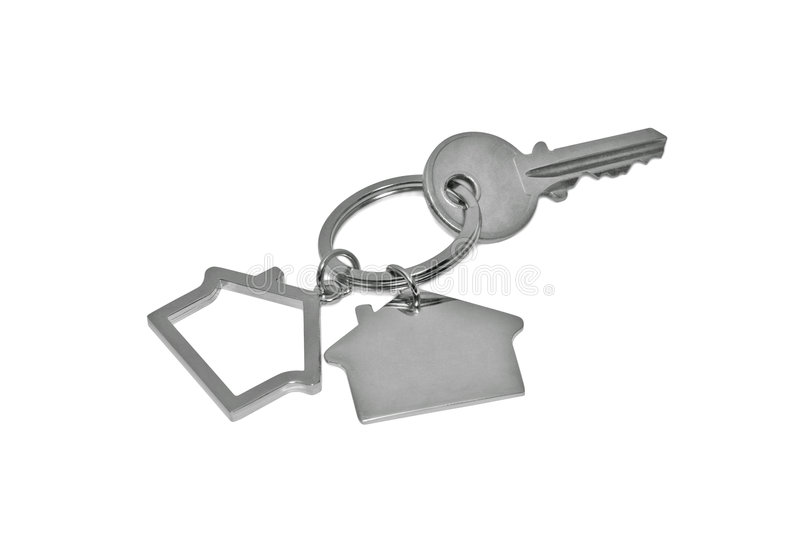Download House key stock photo. Image of isolated, apartment, metal - 2924080