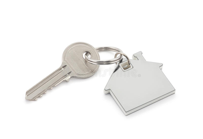 House key. With clipping path stock images