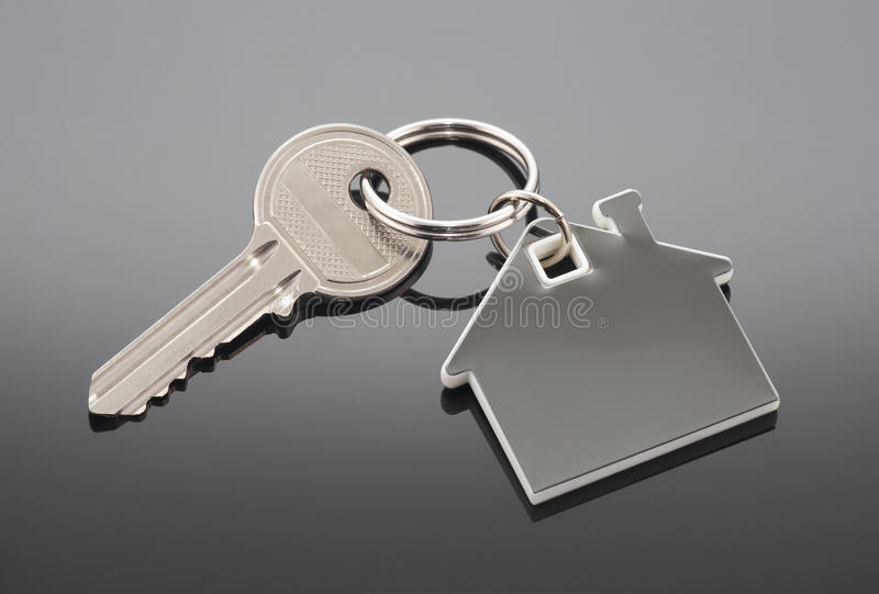 House key. With clipping path stock photos