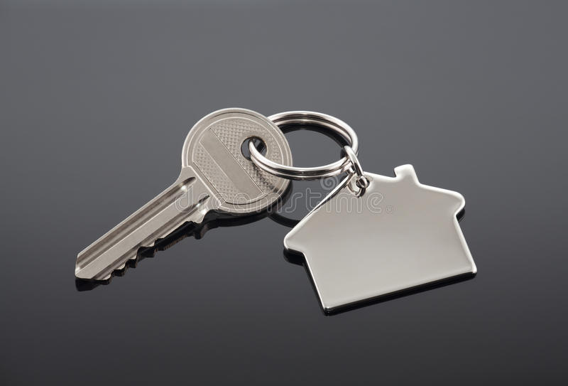House key. With clipping path stock photo