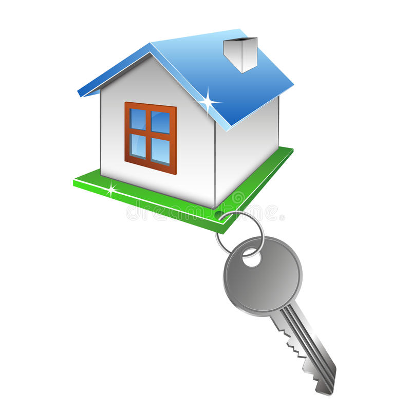 House and key royalty free illustration