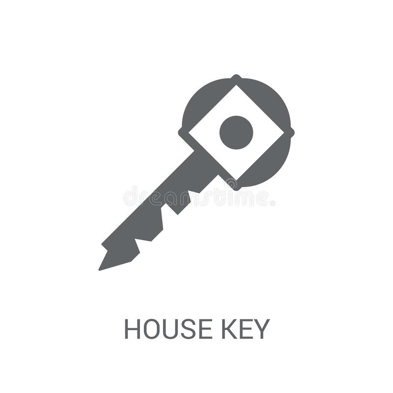 House Key icon. Trendy House Key logo concept on white background from Real Estate collection vector illustration